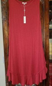 Red Cotton Summer Dress - Max Studios Size L